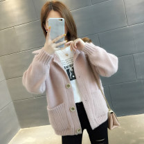 Wool knitwear Autumn of 2019 S M L XL Pink green blue Khaki red Long sleeves singleton  Cardigan other More than 95% Regular routine commute easy tailored collar routine Solid color Single breasted Korean version A02324 You've got to go Pocket button Other 100% Pure e-commerce (online only)