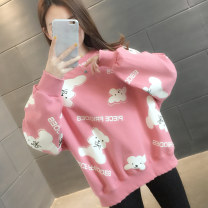 Sweater / sweater Spring 2021 Pink white blue S M L XL Long sleeves routine Socket singleton  routine Crew neck easy commute routine Cartoon animation 18-24 years old 96% and above You've got to go Korean version other H01271 printing cotton Cotton liner Other 100% Pure e-commerce (online only)