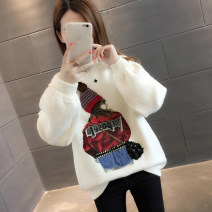 sweater Winter of 2018 S M L XL Off white Khaki Navy Blue Yellow Pink Red Long sleeves Socket singleton  Regular other 95% and above Half high collar thickening commute routine Cartoon animation Straight cylinder Regular wool Keep warm and warm You've got to go AS18D3524F Embroidery Other 100%