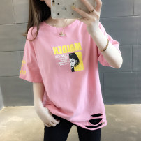 T-shirt S M L XL Summer of 2019 Short sleeve Crew neck easy Regular routine commute other 96% and above Korean version You've got to go Other 100% Pure e-commerce (online only)