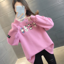 Sweater / sweater Spring 2021 Pink white orange green S M L XL Long sleeves routine Socket singleton  routine Crew neck easy commute routine Cartoon animation 18-24 years old 96% and above You've got to go Korean version other H01215 printing cotton Cotton liner Other 100%