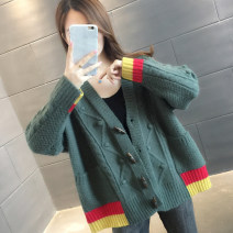 Wool knitwear Autumn 2020 S M L XL Khaki red green Long sleeves singleton  Cardigan other More than 95% Regular routine commute easy V-neck routine Single breasted Korean version A06112 You've got to go Pocket screw button Other 100%