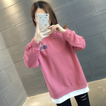 Sweater / sweater Autumn of 2019 S M L XL Long sleeves routine Socket Fake two pieces routine Crew neck easy commute routine letter 96% and above You've got to go Korean version other Other 100% Pure e-commerce (online only)