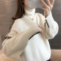 sweater Winter 2020 S M L XL Blue Beige coffee Long sleeves Socket singleton  Regular other 95% and above High collar thickening commute routine Straight cylinder Regular wool Keep warm and warm You've got to go A06713 thread Other 100% Pure e-commerce (online only)