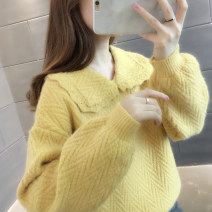 sweater Autumn 2020 S M L XL Yellow beibai blue purple Long sleeves Socket singleton  Regular other 95% and above Polo collar Regular commute routine Solid color Straight cylinder Regular wool Keep warm and warm You've got to go A06163 Other 100% Pure e-commerce (online only)