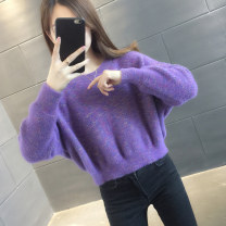 sweater Winter 2020 S M L XL Pink rice white purple green blue Long sleeves Socket singleton  Regular other 95% and above Crew neck Regular commute routine Solid color Straight cylinder Regular wool Keep warm and warm You've got to go A06300 Other 100% Pure e-commerce (online only)