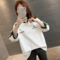 T-shirt White pink blue black S M L XL Autumn of 2019 three quarter sleeve Crew neck easy Regular routine commute other 96% and above Korean version letter You've got to go A02320 Other 100% Pure e-commerce (online only)