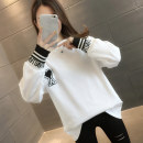 T-shirt White black S M L XL Spring 2021 Long sleeves Crew neck easy Regular routine commute other 96% and above 18-24 years old Korean version letter You've got to go Other 100% Pure e-commerce (online only)