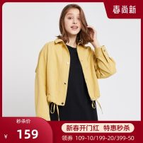 short coat Spring 2020 S/160 M/165 L/170 Apricot r03452 yellow r03452 Nine point sleeve have cash less than that is registered in the accounts routine singleton  easy commute stand collar Single breasted Solid color 25-29 years old We / Weiwei 96% and above R03452 cotton cotton Cotton 100%