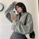 Fashion suit Winter 2020 Average size Dark grey dress, light grey zipper coat 81% (inclusive) - 90% (inclusive) cotton