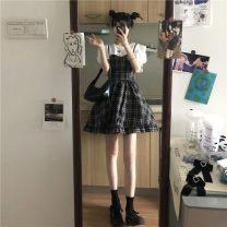 Fashion suit Summer 2020 S. M, average size Short Sleeve T, plaid skirt 71% (inclusive) - 80% (inclusive)