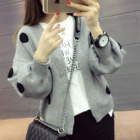 Wool knitwear Autumn 2016 S M L XL Long sleeves singleton  Cardigan other More than 95% have cash less than that is registered in the accounts routine commute easy V-neck bishop sleeve Wave point Korean version 25-29 years old Fairy rhyme Splicing Other 100% Pure e-commerce (online only)