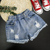 trousers Mo Mo Da female 150cm,160cm,100(7),110(9),120(11),130(13),140(15) Denim shorts summer trousers Korean version There are models in the real shooting Jeans Leather belt middle-waisted Cotton denim Don't open the crotch Cotton 100% Class A 2, 3, 4, 5, 6, 7, 8, 9, 10, 11, 12 years old