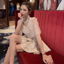 Fashion suit Spring of 2019 S,M,L Champagne dress, champagne suit 25-35 years old Ziqing ZQ1927 96% and above cotton