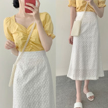 Fashion suit Summer 2021 S,M,L,XL White, yellow 18-25 years old 96% and above polyester fiber