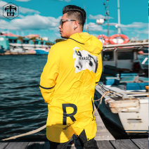 Windbreaker yellow Otto Rehhagel  Youth fashion XL 2XL 3XL 4XL 5XL 6XL zipper have more cash than can be accounted for easy Other leisure autumn Large size other tide RHCFY5065 Polyester 100% character Side seam pocket Zipper decoration other Autumn of 2018