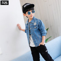 Plain coat Zuo Xi male Denim spring and autumn leisure time Single breasted There are models in the real shooting routine nothing other Cotton blended fabric Crew neck ZY183183. Cotton 78.2% polyester 6.9% others 14.9% Class B Spring of 2019