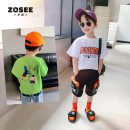 T-shirt White green collection added to shopping cart Zuo Xi 110cm 120cm 130cm 140cm 150cm 160cm male summer Short sleeve Crew neck leisure time There are models in the real shooting nothing Cotton blended fabric Cartoon animation Cotton 93% polyurethane elastic fiber (spandex) 7% 680202YZ Class B