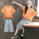 suit Luofeng Orange green 110cm 120cm 130cm 140cm 150cm 160cm female summer Korean version Short sleeve + pants 2 pieces Thin money There are models in the real shooting Socket nothing other other children Giving presents at school LF-20XT112 Class B Other 100% Summer 2020 Chinese Mainland