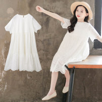 Dress white female Luofeng Tag 110 for height 100 ~ 110cm tag 120 for height 110 ~ 120cm tag 130 for height 120 ~ 130cm tag 140 for height 130 ~ 140cm tag 150 for height 140 ~ 150cm tag 160 for height 150 ~ 160cm Other 100% summer Korean version Short sleeve other other other Class B Summer 2020