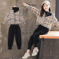 suit Luofeng Picture color collection, additional purchase and priority delivery 120CM 130CM 140CM 150CM 160CM 170CM female spring and autumn Korean version Long sleeve + pants 2 pieces routine There are models in the real shooting Socket nothing other other children Giving presents at school 21QT25