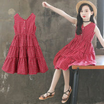 Dress gules female Luofeng 120cm 130cm 140cm 150cm 160cm 170cm Other 100% summer Korean version Skirt / vest other other A-line skirt Class B Summer 2021 3 years old, 4 years old, 5 years old, 6 years old, 7 years old, 8 years old, 9 years old, 10 years old, 11 years old, 13 years old, 14 years old