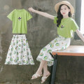 Dress green female Luofeng Other 100% summer Korean version Short sleeve other other A-line skirt Class B Summer 2020 4 years old, 5 years old, 6 years old, 7 years old, 8 years old, 9 years old, 10 years old, 11 years old, 12 years old, 13 years old, 14 years old Chinese Mainland Guangdong Province