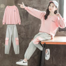suit Luofeng Pink Collection Plus purchase, priority delivery 120cm 130cm 140cm 150cm 160cm 170cm female winter Korean version Long sleeve + pants 2 pieces thickening There are models in the real shooting Socket nothing other other children Learning reward LF-20CT40 Class B Other 100% Winter 2020