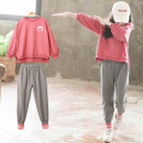 suit Luofeng chinese red 110cm 120cm 130cm 140cm 150cm 160cm 170cm female spring and autumn Korean version Long sleeve + pants 2 pieces routine There are models in the real shooting Socket nothing other other children Giving presents at school LF-9QT1 Class B Other 100% Autumn 2020