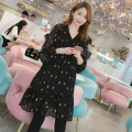 Women's large Autumn 2020 5697 black 2xl170-200kg, 3xl200-235kg, 4xl235-270kg, 5xl270-310kg Dress singleton  commute moderate Socket Long sleeves Korean version polyester Collage 25-29 years old