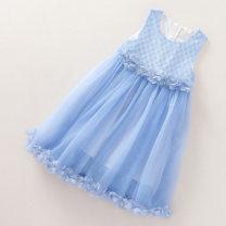 Dress blue female Other / other 110cm,120cm,130cm,140cm,150cm Other 100% summer leisure time Cartoon animation other A-line skirt M0410- Four, three, five, six, seven, eight, nine, ten, eleven, twelve, thirteen, fourteen