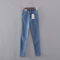 Jeans Spring of 2019 Dark blue, light blue S,M,L,XL trousers High waist Pencil pants routine 18-24 years old D