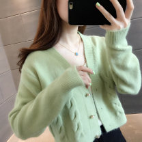 Wool knitwear Autumn 2020 S M L XL Long sleeves singleton  Cardigan other More than 95% have cash less than that is registered in the accounts routine commute easy V-neck routine Solid color Single breasted Korean version 25-29 years old Yongjitemi Button Other 100% Pure e-commerce (online only)