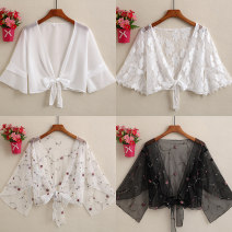 Lace / Chiffon Spring 2021 M,L,XL,2XL,3XL Long sleeves Versatile Cardigan singleton  easy have cash less than that is registered in the accounts V-neck Solid color pagoda sleeve 25-29 years old Ocnltiy CY2020314263FDS987 Frenulum 96% and above nylon