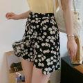 skirt Summer 2020 M,L,XL,2XL,3XL,4XL Short skirt commute High waist Irregular Broken flowers Type A QH Chiffon other Asymmetric, zipper Korean version