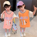 Dress female Yibailido 80cm 90cm 100cm 110cm 120cm 130cm Other 100% summer Korean version Short sleeve Cartoon animation cotton A-line skirt Summer 2021 12 months, 6 months, 9 months, 18 months, 2 years, 3 years, 4 years, 5 years, 6 years