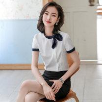 Professional dress suit S,M,L,XL,XXL,XXXL,4XL Summer 2021 Short sleeve shirt Suit skirt 25-35 years old 51% (inclusive) - 70% (inclusive) polyester fiber