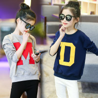 Sweater / sweater female 110cm 120cm 130cm 140cm 150cm 160cm spring and autumn nothing leisure time Socket routine There are models in the real shooting other Cotton 95% polyurethane elastic fiber (spandex) 5%