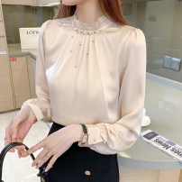 Lace / Chiffon Summer 2021 Off white, black S,M,L,XL,2XL Short sleeve commute Socket singleton  Straight cylinder Regular V-neck Solid color routine 18-24 years old GH Embroider, fold, nail bead Korean version 51% (inclusive) - 70% (inclusive)
