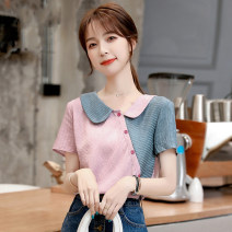 Lace / Chiffon Summer 2021 Picture color S,M,L,XL,2XL Short sleeve commute Socket singleton  Self cultivation Regular Doll Collar other puff sleeve 25-29 years old DF Korean version 51% (inclusive) - 70% (inclusive) polyester fiber