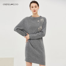 Wool knitwear Autumn of 2019 XS S M L XL XXL XXXL Long sleeves singleton  Socket wool More than 95% Regular routine commute Self cultivation Half height crew neck routine Solid color Socket lady 30-34 years old Omnialuo / europlano Wool 100% Same model in shopping mall (sold online and offline)