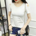 T-shirt S. M, l, XL, 2XL, pay attention to the store and give small gifts Summer of 2018 Short sleeve Crew neck Self cultivation Regular routine commute cotton 86% (inclusive) -95% (inclusive) 25-29 years old Korean version youth Solid color Hani tide