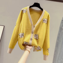 Wool knitwear Autumn of 2019 M L XL S Long sleeves singleton  Cardigan other More than 95% Regular routine commute easy V-neck routine Cartoon animation Single breasted Korean version 18-24 years old Saronala / saonara Button Other 100% Pure e-commerce (online only)