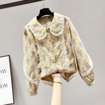 Lace / Chiffon Spring 2021 Apricot S M L XL Long sleeves commute Socket singleton  easy Regular Doll Collar Decor routine 18-24 years old Saronala / saonara Korean version Other 100% Pure e-commerce (online only)
