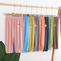 trousers Other / other female 90cm,100cm,110cm,120cm,130cm Sky blue, yellow, gray, green, pink, orange, Navy, coffee summer Ninth pants leisure time No model Casual pants Leather belt middle-waisted other Open crotch Cotton 95% polyurethane elastic fiber (spandex) 5% Class A Chinese Mainland