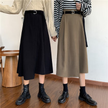 skirt Winter 2020 S [90-100kg], m [100-110kg], l [110-120kg], XL [120-135kg], 2XL [135-150kg], 3XL [150-165kg], 4XL [165-175kg], 5XL [175-200kg] Mid length dress commute High waist A-line skirt Solid color 18-24 years old 51% (inclusive) - 70% (inclusive) Coardiarn / Kuandian polyester fiber