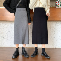 skirt Winter 2020 S [90-100kg], m [100-110kg], l [110-120kg], XL [120-135kg], 2XL [135-150kg], 3XL [150-165kg], 4XL [165-175kg], 5XL [175-200kg] Gray, black Mid length dress commute High waist skirt Solid color Type H 18-24 years old 31% (inclusive) - 50% (inclusive) other Coardiarn / Kuandian other