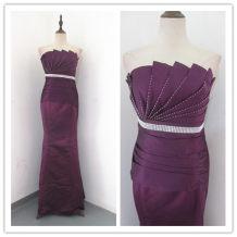 Dress / evening wear Wedding adult party company annual meeting performance L Deep purple Brocade