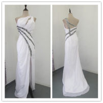 Dress / evening wear Wedding adult party company annual meeting performance S M white Chemical fiber Chiffon