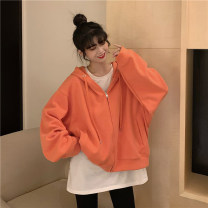 Women's large Autumn 2020 S (75-95 kg), m (95-105 kg), l (105-120 kg), XL (120-140 kg), 2XL (140-160 kg), 3XL (160-180 kg), 4XL (180-200 kg) Sweater / sweater singleton  commute easy moderate Cardigan Long sleeves Solid color Korean version Hood routine other Three dimensional cutting routine pocket
